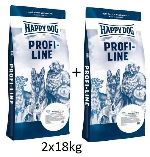 Happy Dog Profi-Line Adult Mini 18+18kg