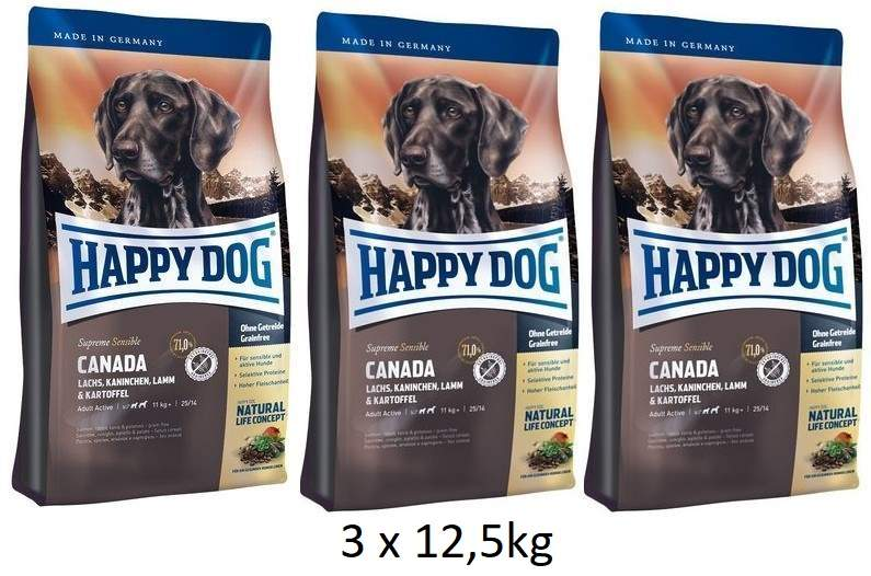 Happy Dog Canada 3 x 12,5 kg