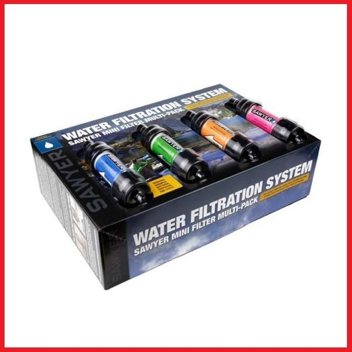 Vodní cestovní filtr SAWYER MINI Filter - COLOR multipack 4 ks + dárek