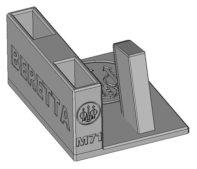 Zobrazit detail výrobku Stojánek do trezoru na Beretta 71 (ráže 22LR) a 2 zásobníky