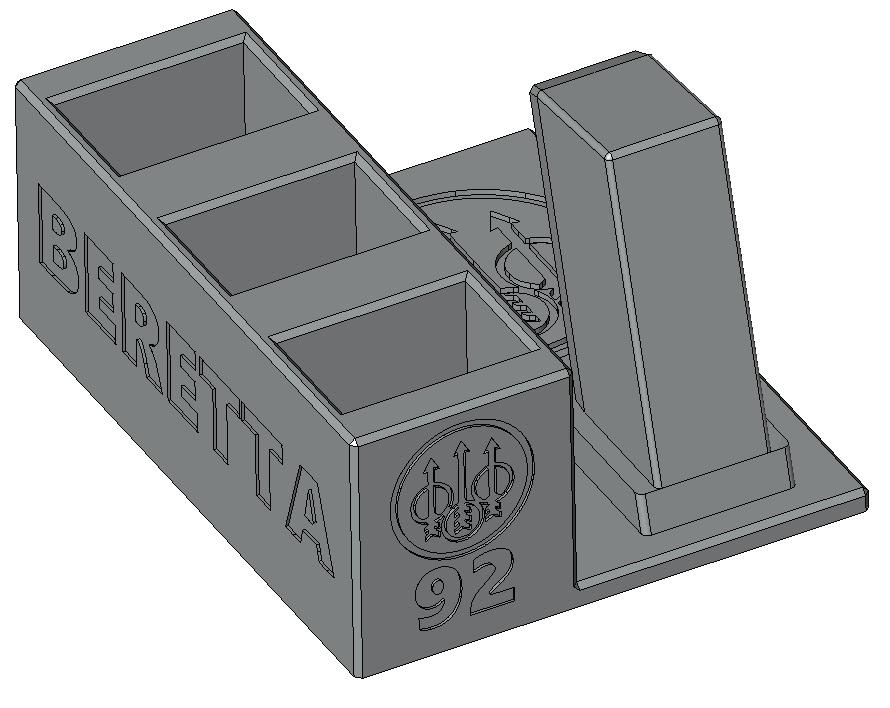 Zobrazit detail výrobku Stojánek do trezoru na Beretta 92 a 3 zásobníky