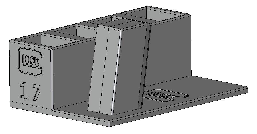 Zobrazit detail výrobku Stojánek do trezoru na Glock 17 + 4 zásobníky