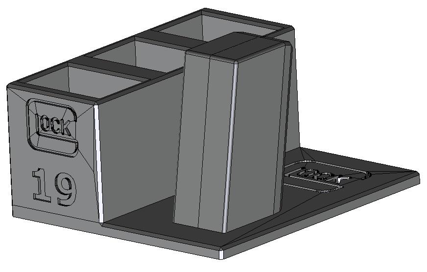 Zobrazit detail výrobku Stojánek do trezoru na Glock 19 + 3 zásobníky