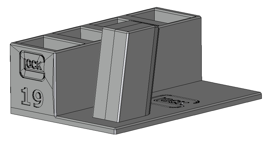 Zobrazit detail výrobku Stojánek do trezoru na Glock 19 + 4 zásobníky