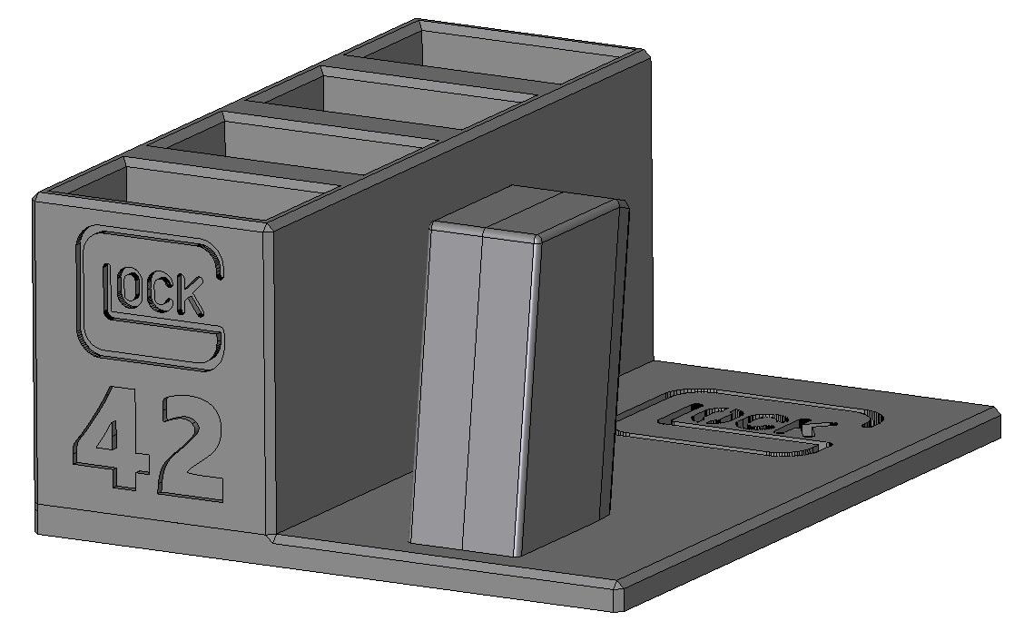 Zobrazit detail výrobku Stojánek do trezoru na Glock 42 + 4 zásobníky