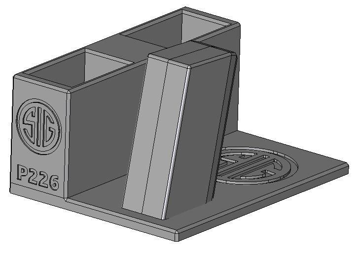 Zobrazit detail výrobku Stojánek do trezoru na Sig Sauer P226 + 2 zásobníky